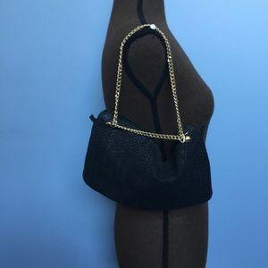 Embossed Italian Leather Handbag